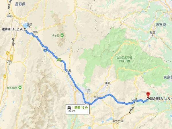 中央道 諏訪 談合坂