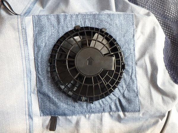 空調服 ファンの向き