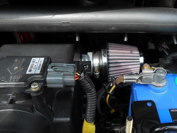エアクリーナーボックス加工 パワーフィルター追加