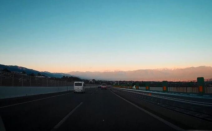 中央道 南アルプス 景色