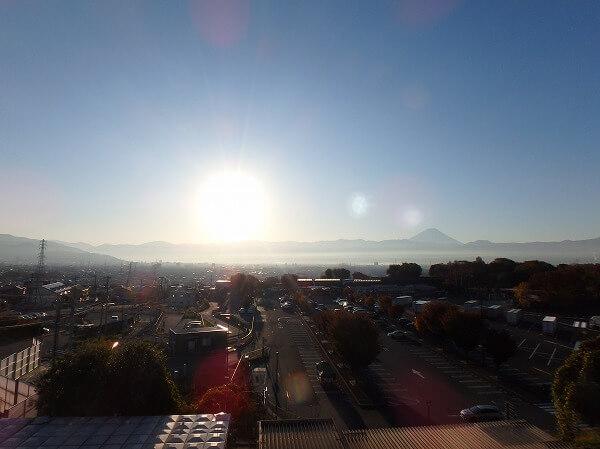 双葉SA 展望台 富士山