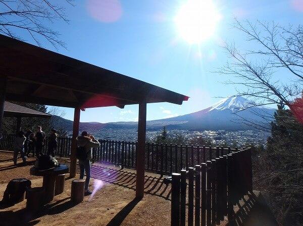 新倉山浅間公園 富士山 展望