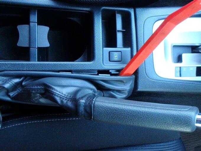 Sモードスイッチ サイドブレーキブーツカバー 外し方