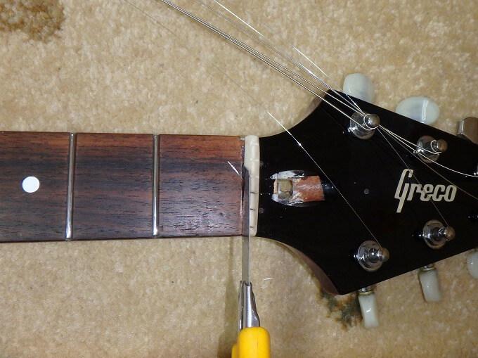 ギター ナット 取り外し