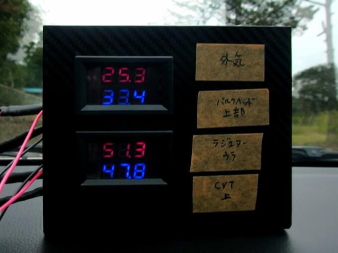 アンダーパネル 効果 確認 排熱